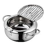 SPGHOME - Sartén para freír aceite, antiadherente, 20 cm, mini olla, fácil de verter