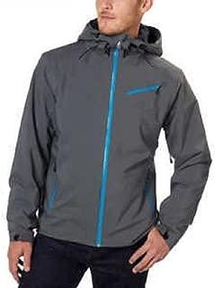 Spyder Men's Fanatic Jacket Hooded (Grey-Blue- XXL)