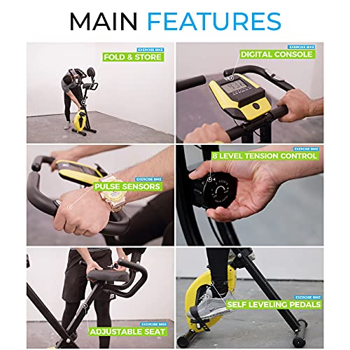 Fit4home Ltd Exercise bike Bluetooth Connectivity exercise bike Folding fitness bike Gym Home Workout Bike ES893