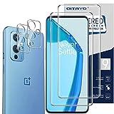 QITAYO per Oneplus 9 Screen Protector+pellicola protettiva per obiettivo della fotocamera, in vetro temperato per Oneplus 9 HD Clarity [2+2 confezioni]