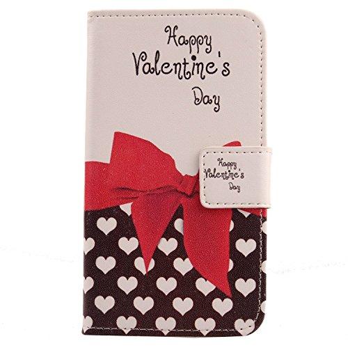 Lankashi PU Flip Leder Tasche Hülle Hülle Cover Schutz Handy Etui Skin Für Kazam Tornado 348 Sweet Heart Design