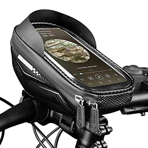 FREEDOL Bolsa Portabicicletas, Cubierta Protectora Impermeable Gran Capacidad Pantalla Táctil Visera Solar Accesorios Bicicletas, Adecuada Bicicletas Montaña Carretera,Negro