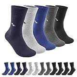 QINCAO Calcetines Hombres Mujeres 12 Pares Ejecutivos de Algodón Transpirables Uso Diario, Paquete de 12 Calcetines Deportivos para Correr(Multicolor- Patrón de Cuadros× 12, 43-46)