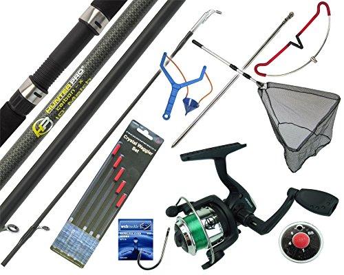 Hunter Pro COMPLETE STARTER FISHING TACKLE SET KIT ROD REEL TACKLE & NET