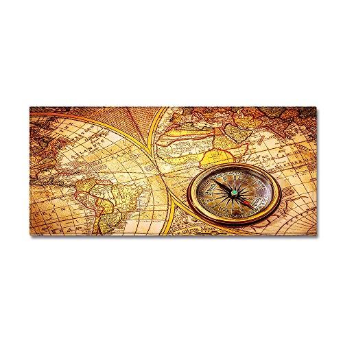 WIVION Lange Küchenmatte Rustikale Weltkarte rutschfeste Badteppichmatte Gummirücken Fußmatte Runner Teppiche Badteppiche Für Badewanne Waschbecken Küche,A,60x180cm(24x71inch)