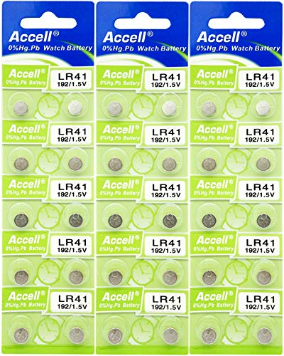 Accell LR41 アルカリボタン電池 10個パック × 3シート (計30個) 環境にやさしい水銀0% オーディオファン