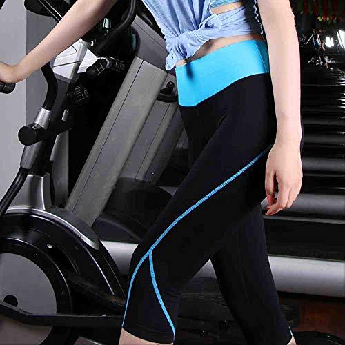 ZIJS Yogahosen Elastische Fitness-Strumpfhose Damen Dreiviertel-Länge Hosen Gym Sport Yoga Leggings Laufhose Compression Workout S Braun,Brown,S