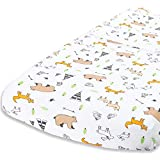 Cuddly Cubs Woodland Animals Changing Pad Cover  Snuggly Soft Plush Cotton Changing Table Cover for Boy, Girl  Fits Perfectly on Summer Infant and Other 16 x 32' Baby Changing Table Pads
