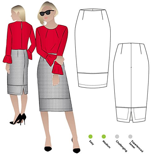 Style Arc Sewing Pattern - Agatha Woven Skirt (Sizes 04-16) - Click for Other