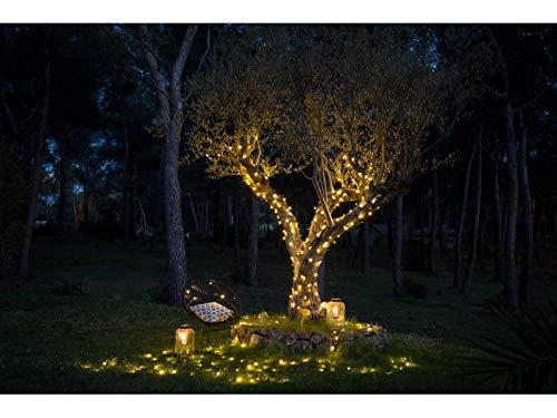 ëlo260 – Juego de 3 guirnaldas luminosas de calidad Pro acoplables, 39 m, LED blanco cálido superbrillante