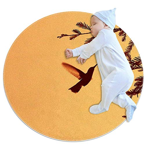 Hummingbirds Baby Play Mats - Baby Crawling Mats for Boys and Girls - Children's Room Decor for Play Carpet Floor Carpets