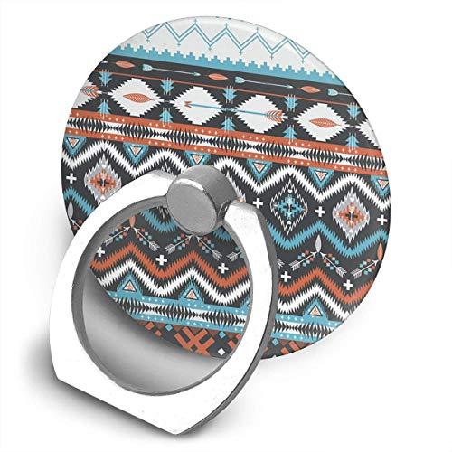 ARRISLIFE Native American Seamless Tribal Pattern with Geometric Elements Soporte para teléfono,Round-Shaped Soporte para Anillo de teléfono Celular,360 Degrees Rotating Soporte de Metal
