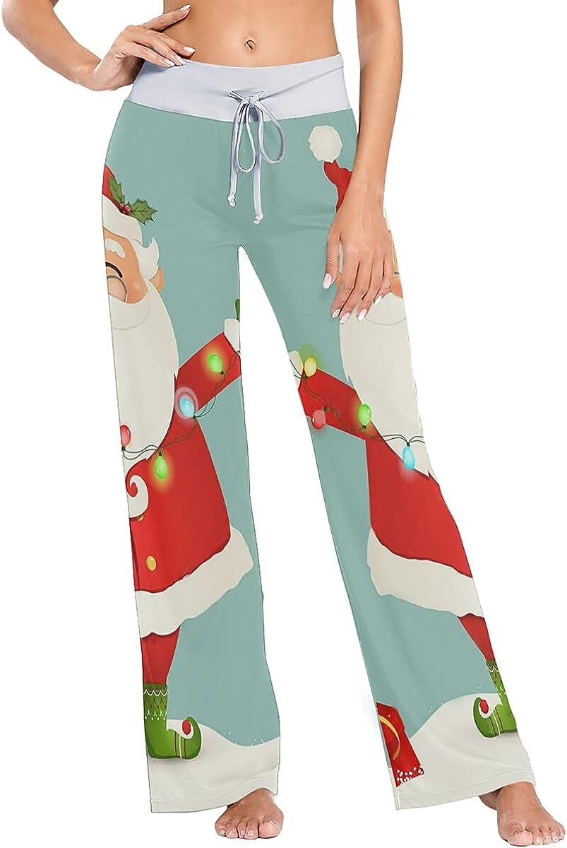Detroit favorite Mall QUZtww Cute Santa with Christmas Pajama Stretch Pants Lights Sle