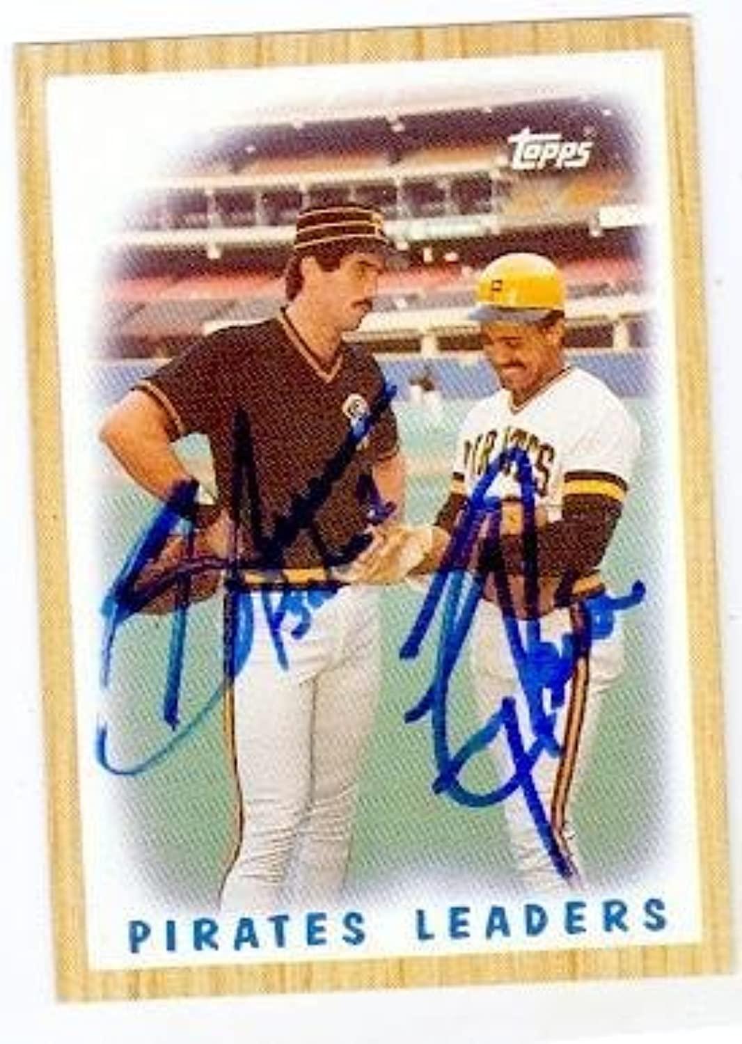 Tony Pena and Sid Bream autographed baseball card (Pittsburgh Pirates) 1987 Topps  131  Autographed Baseball Cards