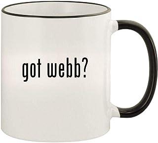 got webb? - 11oz Colored Rim and Handle Coffee Mug, Black