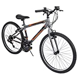 Huffy Mountain Bike Boys 24-inch Kids Bicycle, Gray