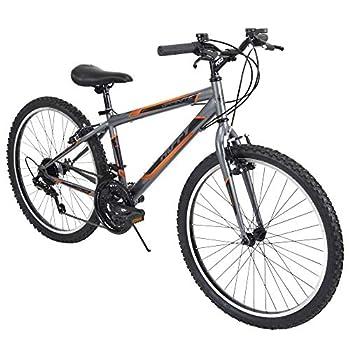 Huffy Mountain Bike Boys 24-inch Kids Bicycle Gray
