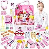 HERSITY 35 Piezas Maletin Medicos Doctora Juguete Enfermera Disfraz...