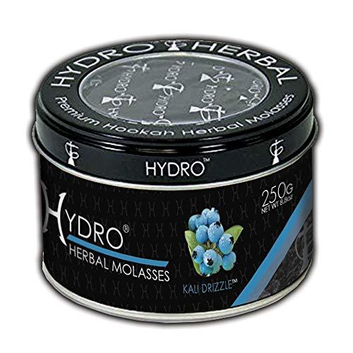 Hydro Herbal, Hookah Shisha Flavor, 250g Can, Tobacco Free, Nicotine Free [Kali Drizzle - Blue Mint]