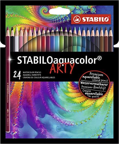Stabilo Aquacolor - Arty, Lápis de cor Aquarelável Premium 24 cores