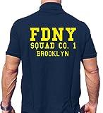 Feuer1 - Polo para hombre, color azul marino 1 Brooklyn New York City Fire Department - Juego de mesa [Importado de Alemania], azul marino, large