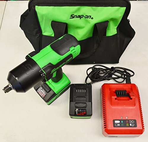 """Snap-On CT8850G (Green) 18V Li-Ion 1/2"""" Dr. Impact Wrench Kit with 2-Batteries, Charger and Carry Bag"""