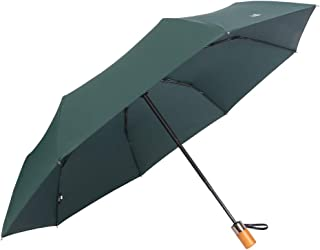 Fully Automatic Opening and Closing Folding Umbrella, Rain and Rain Umbrella, Simple Solid Color Business Umbrella, A Variety of Colors Available HYBKY (Color : Green)