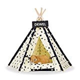 DEWEL Pet Teepee Tent Dog & Cat Bed Removable Washable Dog Tent Small Dog & Cat Cute Puppy Sweet House Portable Pet Tent Indoor for Dog and Cat (Without Cushion)