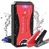 NWOUIIAY Booster Batterie Voiture Etanche 1000A 13200mAh Chargeur Démarreur de Voiture (6 L de Essence 5 L Diesel) avec USB Port à Charge Rapide 3.0 Lampe LED