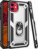 iPhone 11 Case,15ft Drop Tested,ZADORN Military Grade Heavy Duty Cover with Hard PC and Soft TPU Protective Phone Case for iPhone 11 6.1 inch 2019 Silver