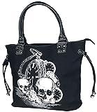 Banned Apparel 'Espalda en negro Calavera & Clock Gótico Rockabilly Mujer Bolso