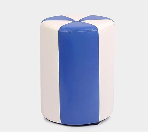 buen precio Silla Rollsnownow blanco + azul Cilindro Taburete Taburete Taburete bajo Taburete de Maquillaje Taburete de Cuero para Niños Taburete de sofá Impermeable (31  31  40cm)  sin mínimo