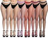 DRESHOW 6 Pares Mujeres Sexy Elástico Medias de Cintura Alta Medias de Rejilla de...