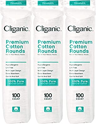 Cliganic Premium Cotton Rounds