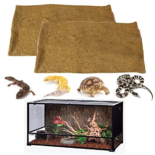 ZZQ 爬虫類 爬虫類用品 テラリウム 爬虫類マット 床材 レオパ 爬虫類カーペット 爬虫類ゲージ 2枚セット ヤシガラ (80×40cm)