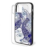 for iPhone 11ケース対応の日本の鯉とのデザインハードPc +ソフトTPU保護耐衝撃性の薄い電話カバープロマックス-for iPhone11Promax-