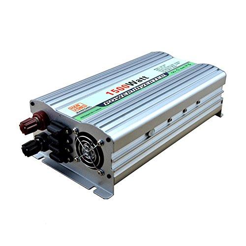 Convertisseur BQ Power Inverter 1500 W DC 12V to AC 220V Transformateur tension de voiture cigarette 2 Chargeur de voiture USB (Argent)