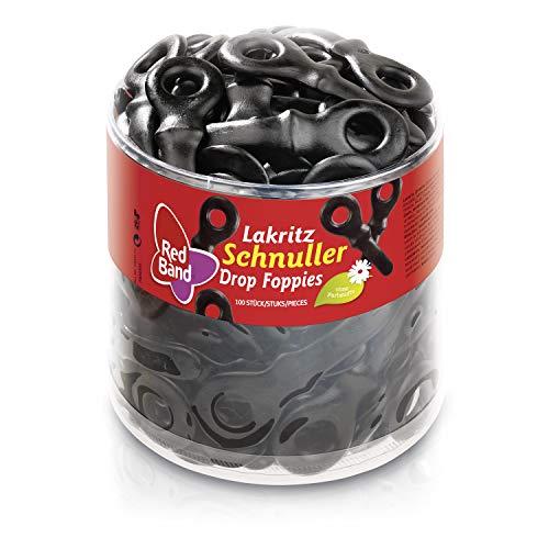 Red Band Lakritz Schnuller - Großpackung: 1,18 kg Dose - Kaugenuss mit dem Geschmack der Süßholzwurzel - Holländische Qualität - Süßigkeiten