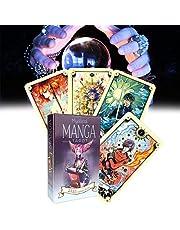 Bordspel Grappige, Mystieke Manga Tarot Kaarten, Waarzeggerij Volledige Engelse versie Familie Party Toekomst Vertellen Spel in Bordspelen,Cadeau voor Familie