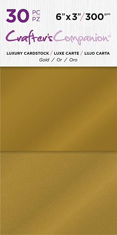 Crafter's Companion CC-PAD-LUX-Gold 6x3 Luxury Pack (30 Sheets) Cardstock