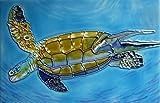 Tile Craft turtle ceramic art tile 8 x 12 inches