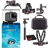 GoPro HERO7 Hero 7 Waterproof Digital Action Camera with Action Kit Accessories Body Bundle (Silver)