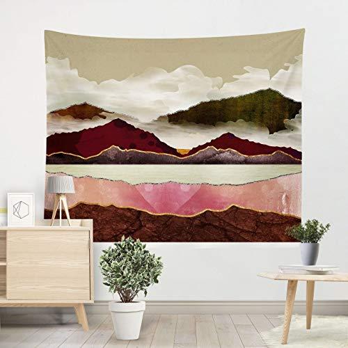Multi-gekleurde wandtapijten hippie mandala muur opknoping polyester reizen camping zonsopgang psychedelisch tafelkleed slaapdeken, roze, 100cm * 100cm