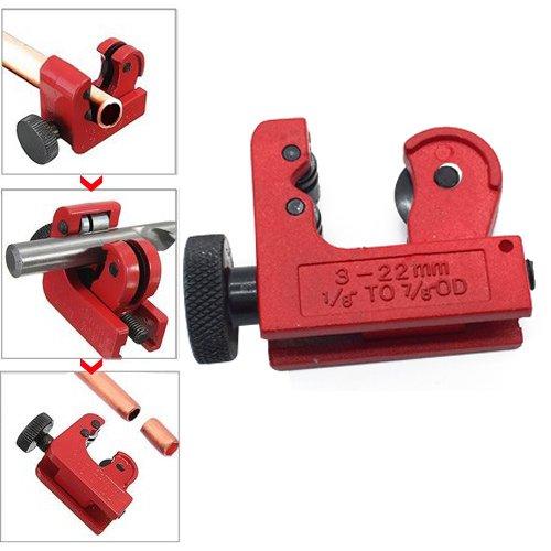 DIAOSnx Mini Tube Cutter, 1/8inch to 7/8inch (3-22mm) OD Miniature Hand Copper Pipe Tubing Cutter Tool