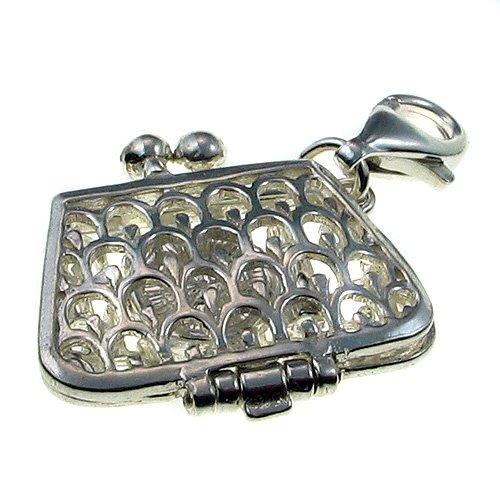 Soldado Bliss de ley 925 pulsera de plata de make-up bolsa bolso de mano compacto y diseño con forma de pintalabios en el interior, carcasa rígida Fit WBC1144