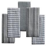 Topseas paños de cocina,toallas de cocina 100% algodón,5 barras suaves y duraderos con fuerte absorción de agua trapos de cocina,toallas de té/toallas de limpieza/picnic llevar etc.