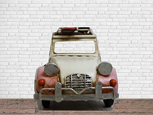 Photocall en Cartón Coche Escarabajo Rosa 146x141cm | Photocall Coche Escarabajo Rosa | Photocall Económico y Original | Photocall Troquelado