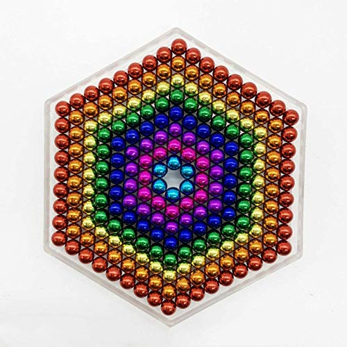 DHEJ Magnetic Balls 5MM 216 PCS Rainbow Decompression Office Tactile Desktop Toys Creative DesignCoolest Office Stress Reliever Gadget for Teens and Adults (Eight Colors)