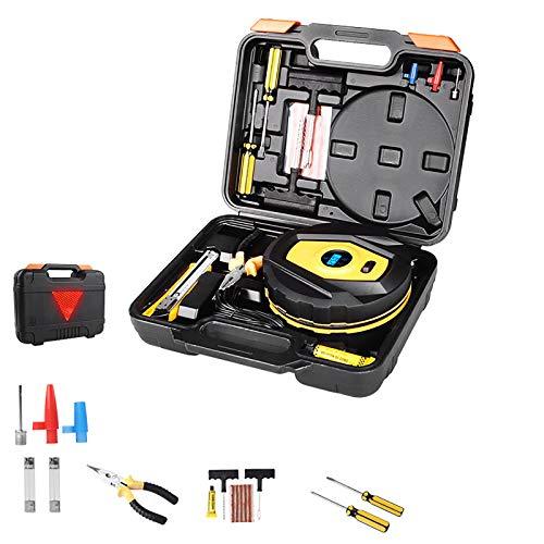 Bomba De Aire Eléctrica, Utilizado para Neumáticos De Coche/Motocicleta/Bicicleta Y Otros Equipos De Inflado, con Pantalla Digital LCD