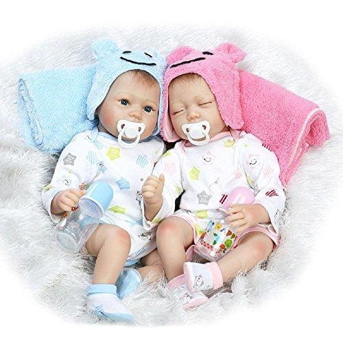 HOOMAI 22inch 55cm Bambole Reborn Baby Doll Femmine Maschio realistica gemello Toddler Silicone bambolotti Giocattolo